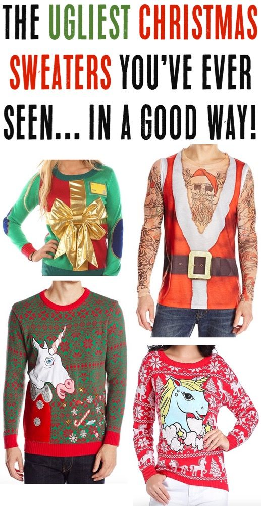 Ugly Christmas Sweater Ideas! BIG list of Funny Sweaters for your ...