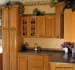 Natural cabinets wood and light blue walls kitchen paint Kitchen colors with natural wood cabinets