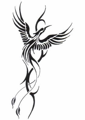 Phoenix Represents Rebirth Placement Up The Side Of Torso