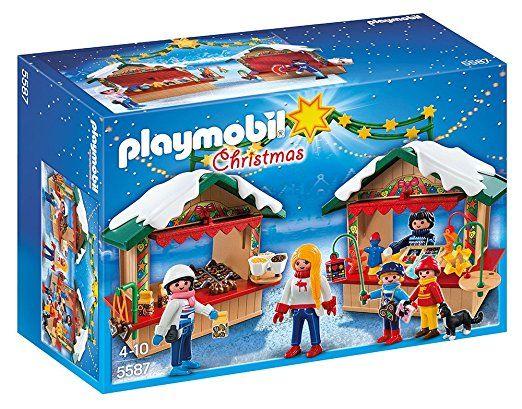 Playmobil Weihnachten.Playmobil 5587 Auf Dem Weihnachtsmarkt Playmobil