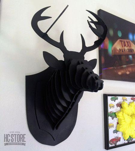 Cabeça de Alce Preta - HC Store