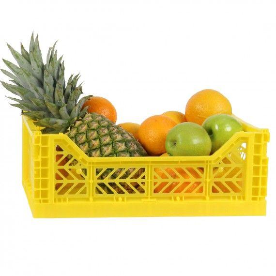 Cagette En Plastique Rouge Empilable Et Pliable Cagette Fruits Et Legumes Et Rangement Cuisine