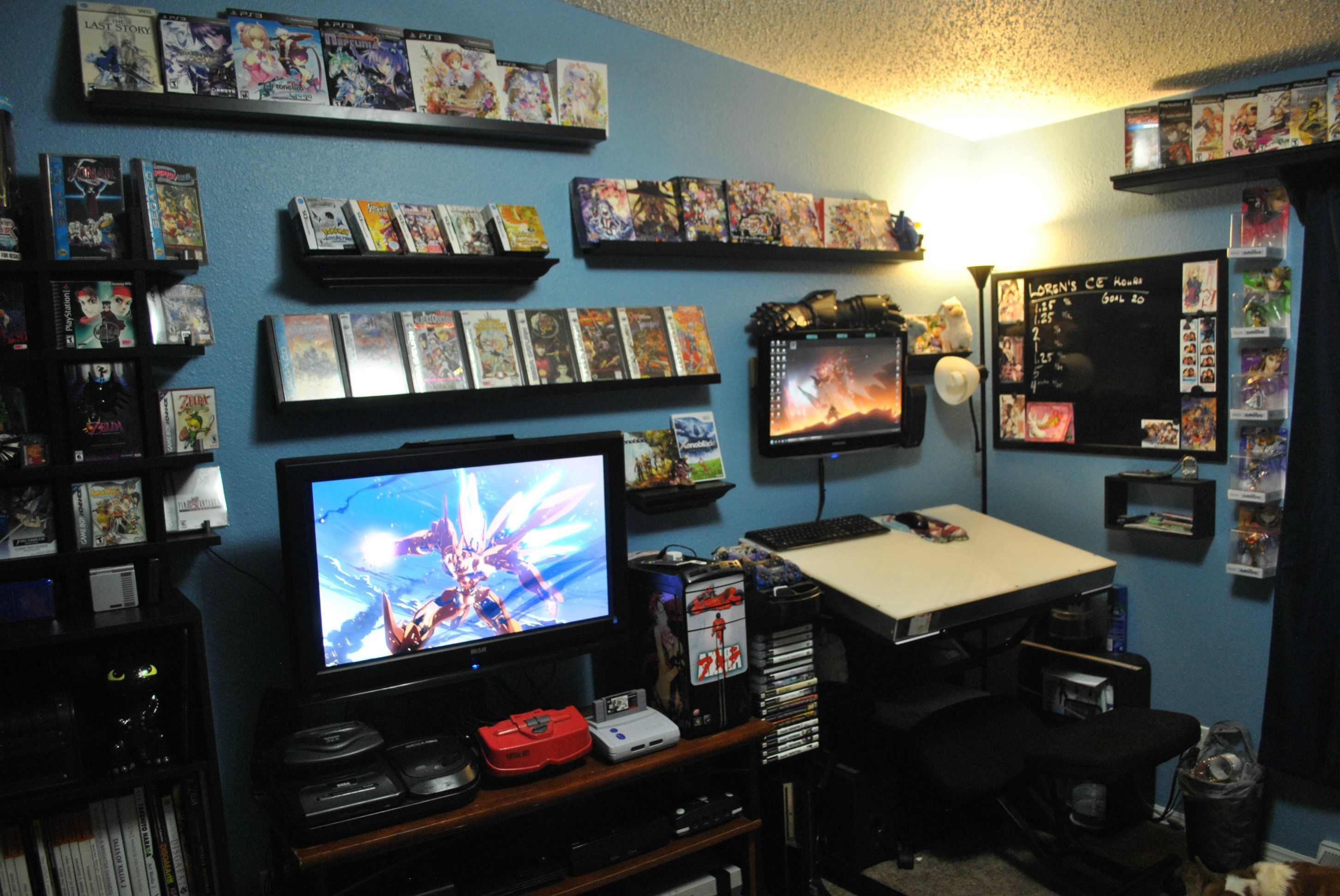 Mine And My Wife S Game Collection Video Game Rooms Game Room