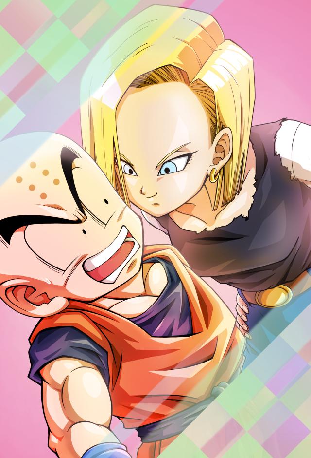 Android 18 Kisses Krillin Card Bucchigiri Match By Maxiuchiha22 Dragon Ball Art Dragon Ball Wallpapers Krillin And 18
