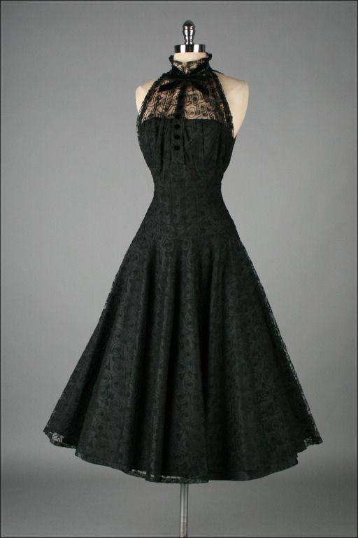 Vintage style lace cocktail dress