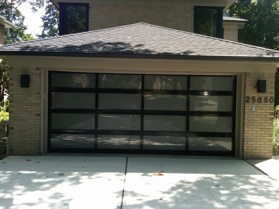 New Install 16 X 7 Chi Garage Door Model 3295 With Frosted