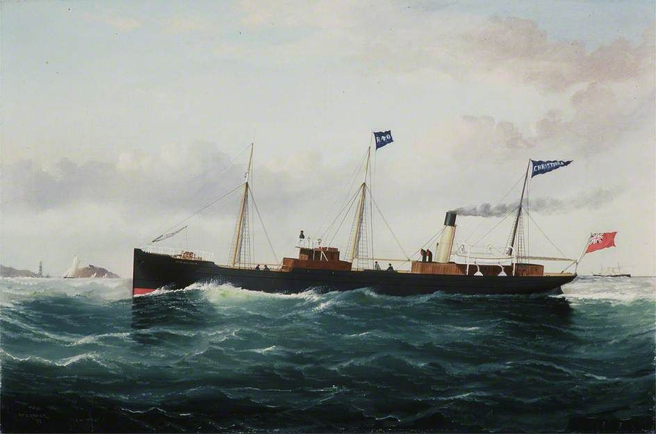 BBC - Your Paintings - Steam ship 'Christiana', by