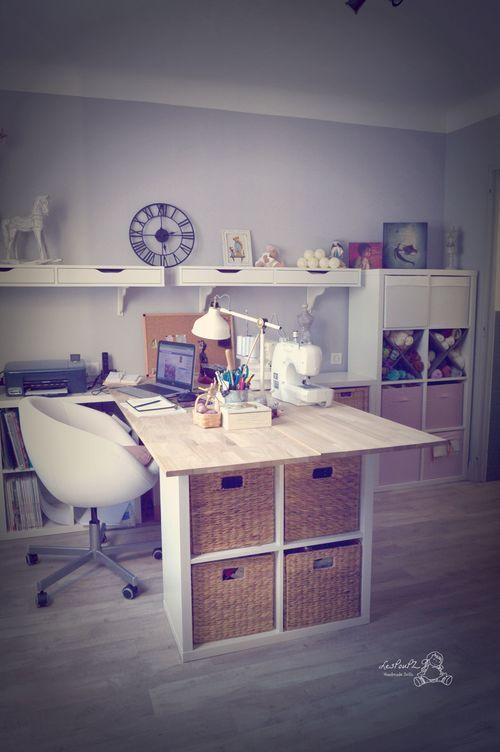 am nagement bureau atelier couture deco pinterest am nagement bureau bureau et am nagement. Black Bedroom Furniture Sets. Home Design Ideas