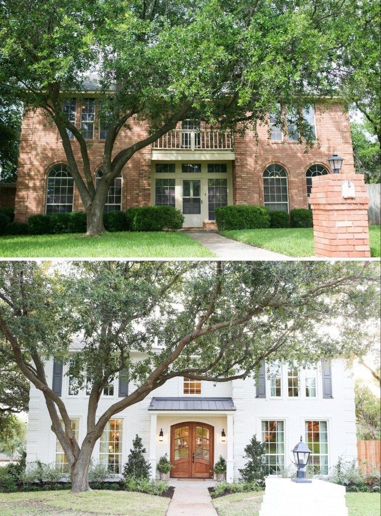 48 Home Exterior Makeover Before And After Ideas Brick Exteriors Adorable Beautifully Painted Houses Exterior Ideas Remodelling