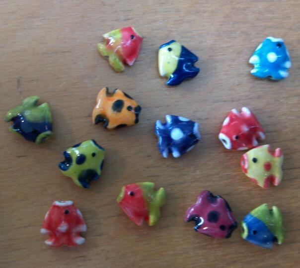 Ceramic fish beads