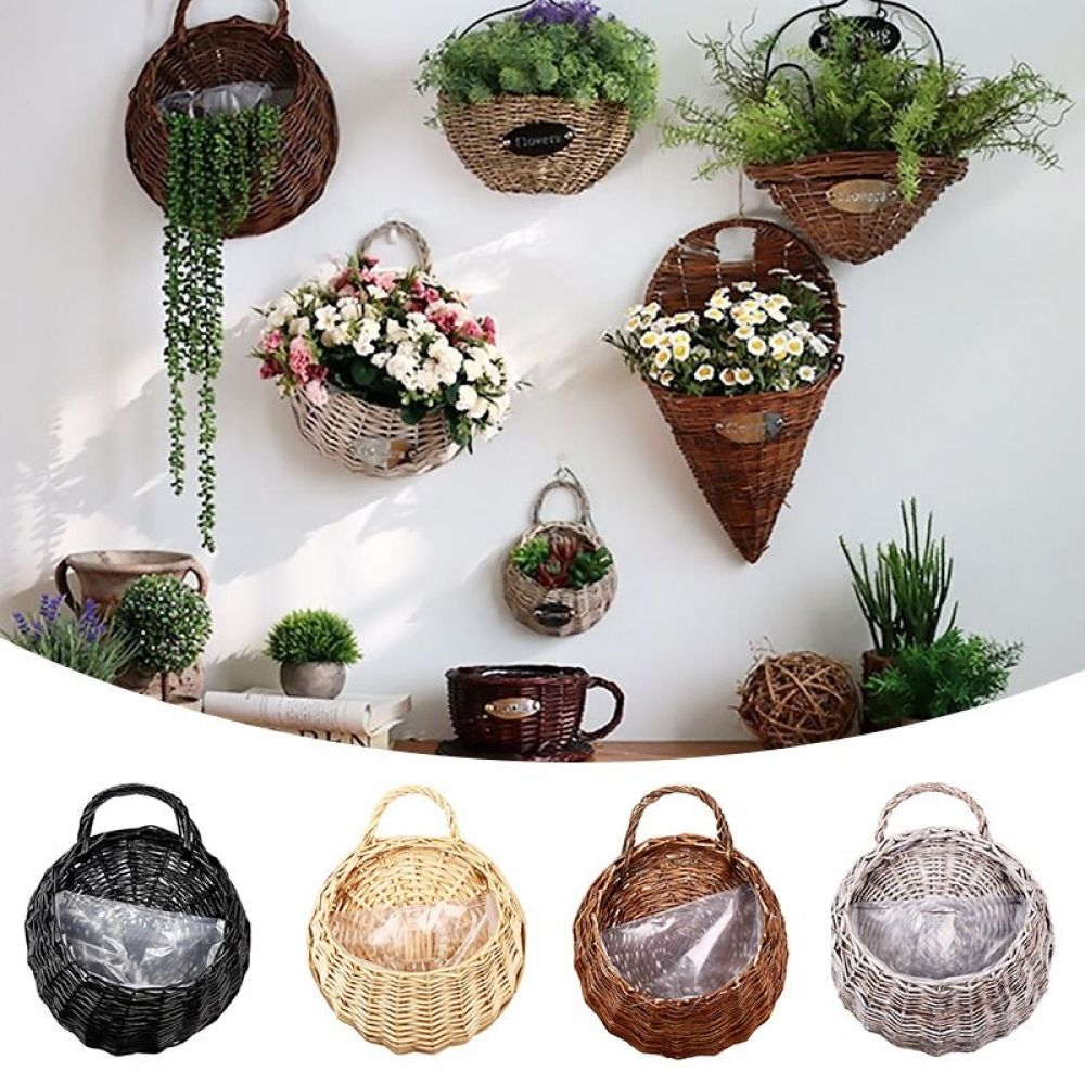 Handmade Wicker Hanging Basket for Plants/ Flowers в 2020 ... on Decorative Wall Sconces For Flowers Hanging Baskets Delivery id=26162
