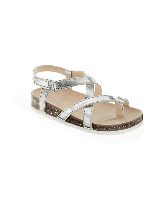 fa6fbcda4 Faux-Leather Metallic Sandals for Baby Zapatos De Niña Infante