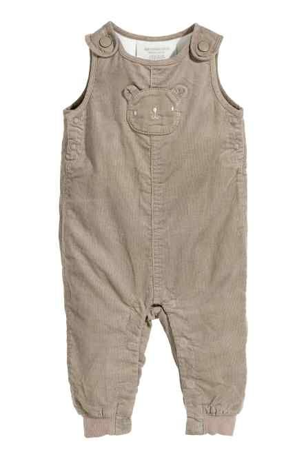 f0a340099 H M -Jersey-lined dungarees £9.99