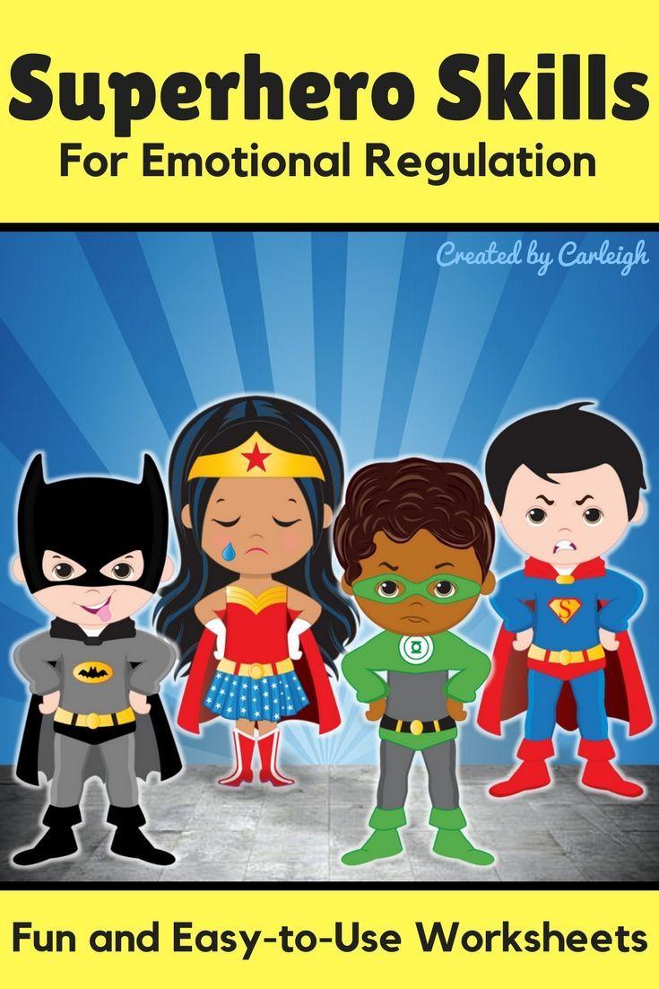 Coping Skills Self Regulation Worksheets - Superhero Themed ...