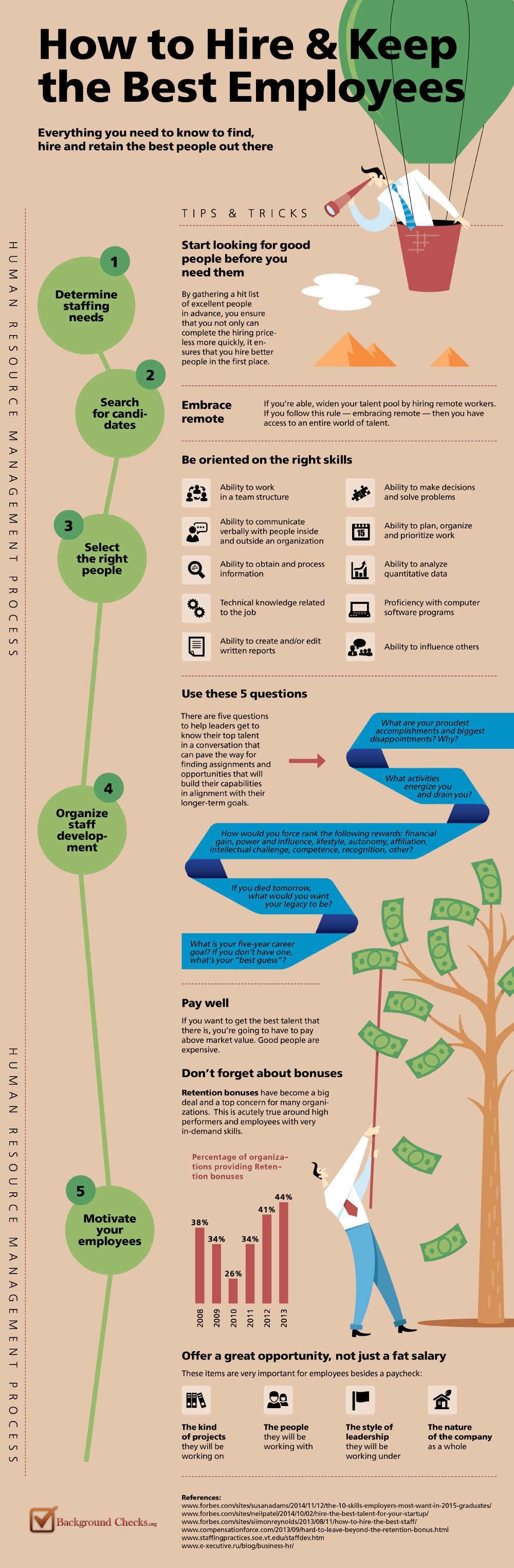 How to Hire and Keep the Best Employees #infographic