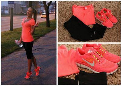 pink and black workout cloths