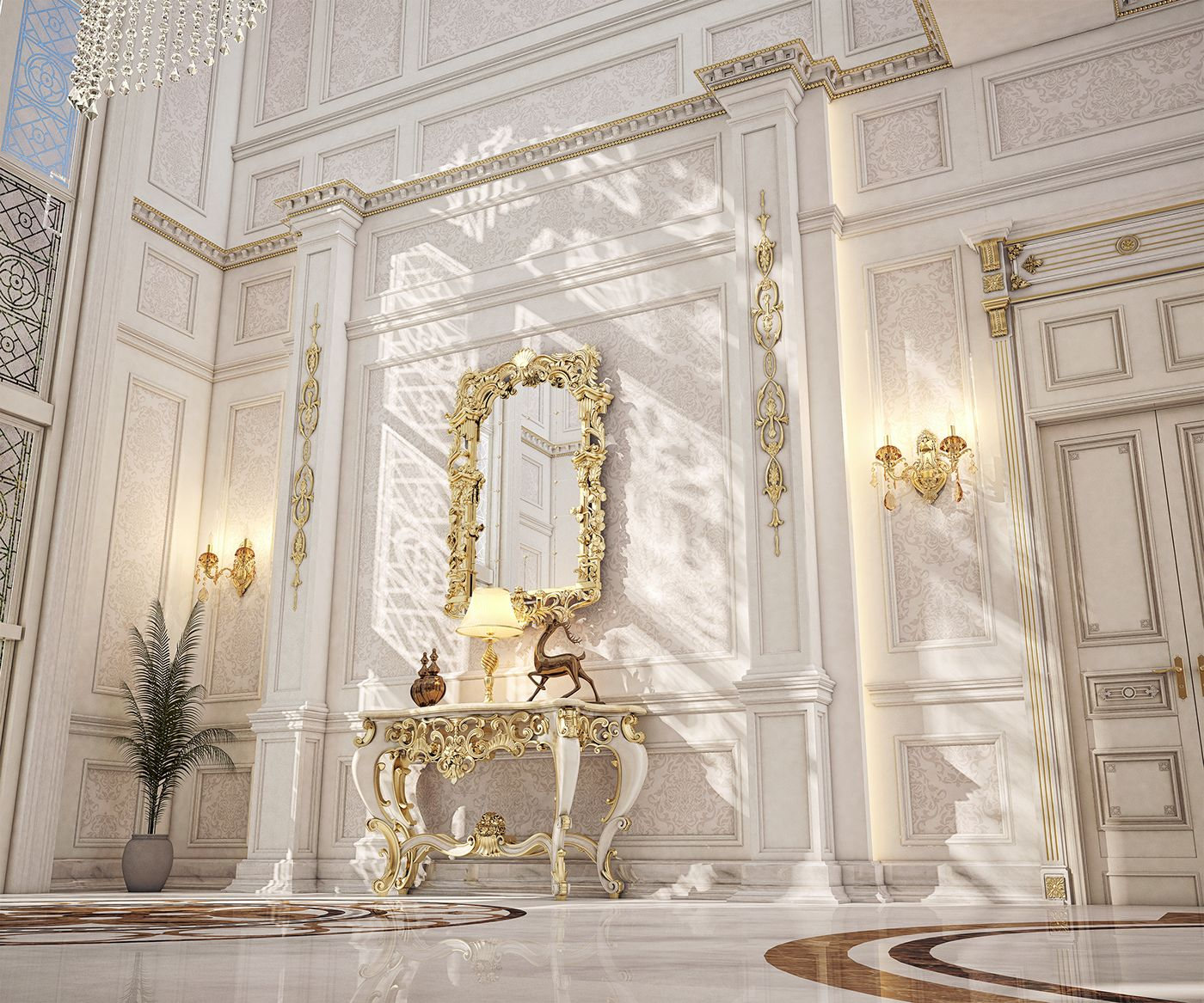 Classic Entrance Halls 10 Best: Main Entrance Hall Design For A Private Villa At Doha