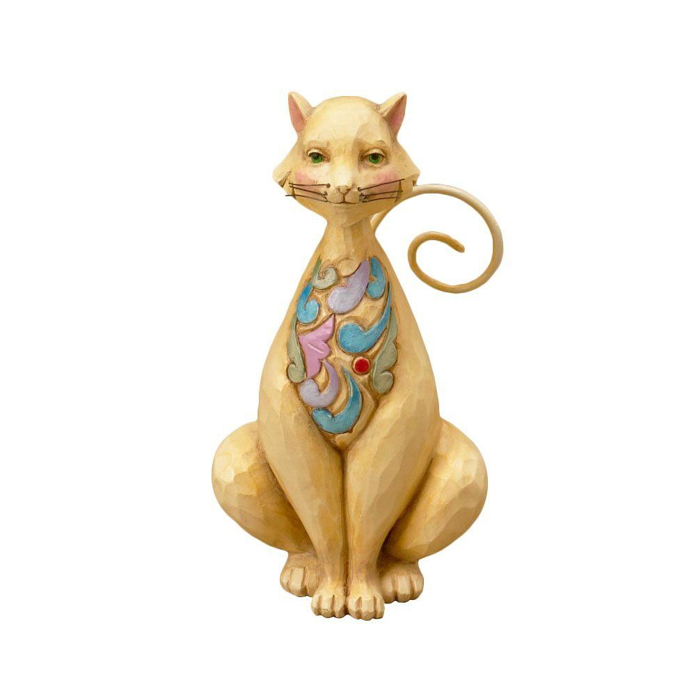 Amazon.com - Jim Shore for Enesco Heartwood Creek Mini Cat Figurine, 3-3/4-Inch - Collectible Figurines