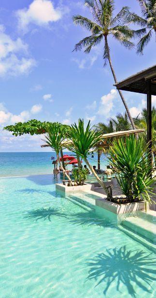 Wow, this place is gorgeous. Anantara Rasananda Resort in Koh Samui, Thailand.