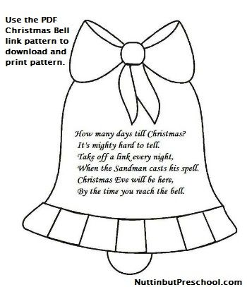 Christmas Bell - add a paper chain to the bottom to count down the days to Christmas (my ...