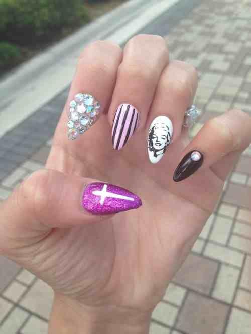 Marilyn Monroe nail art | Nails | Pinterest | Jersey nails, Nail ...