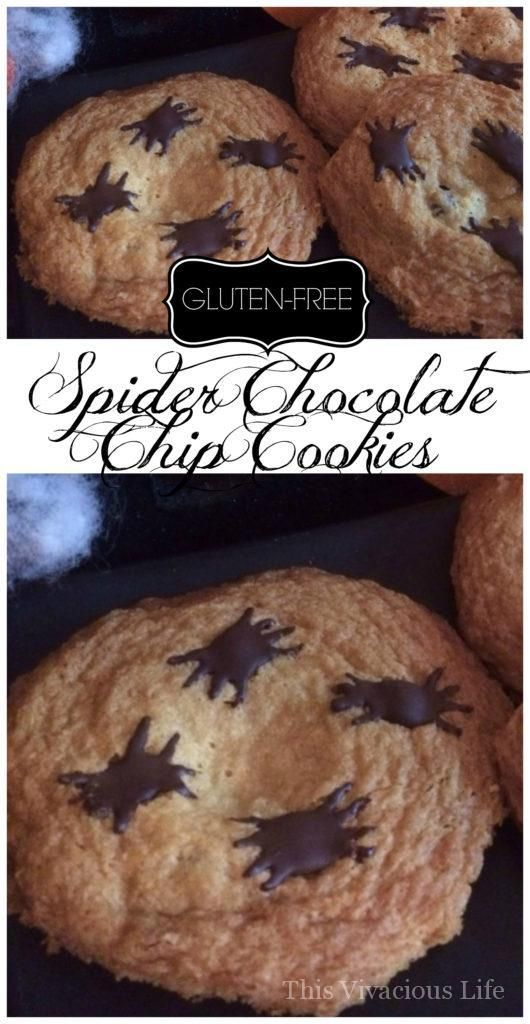 Gluten-Free Spider Chocolate Chip Cookies are festive and fun for - fun halloween food ideas