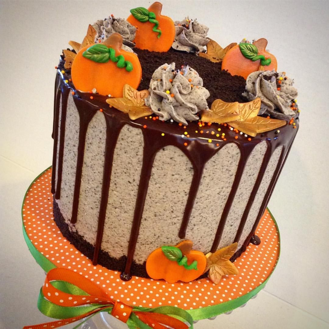 Fall themed Oreo drip cake. See this Instagram photo by ...