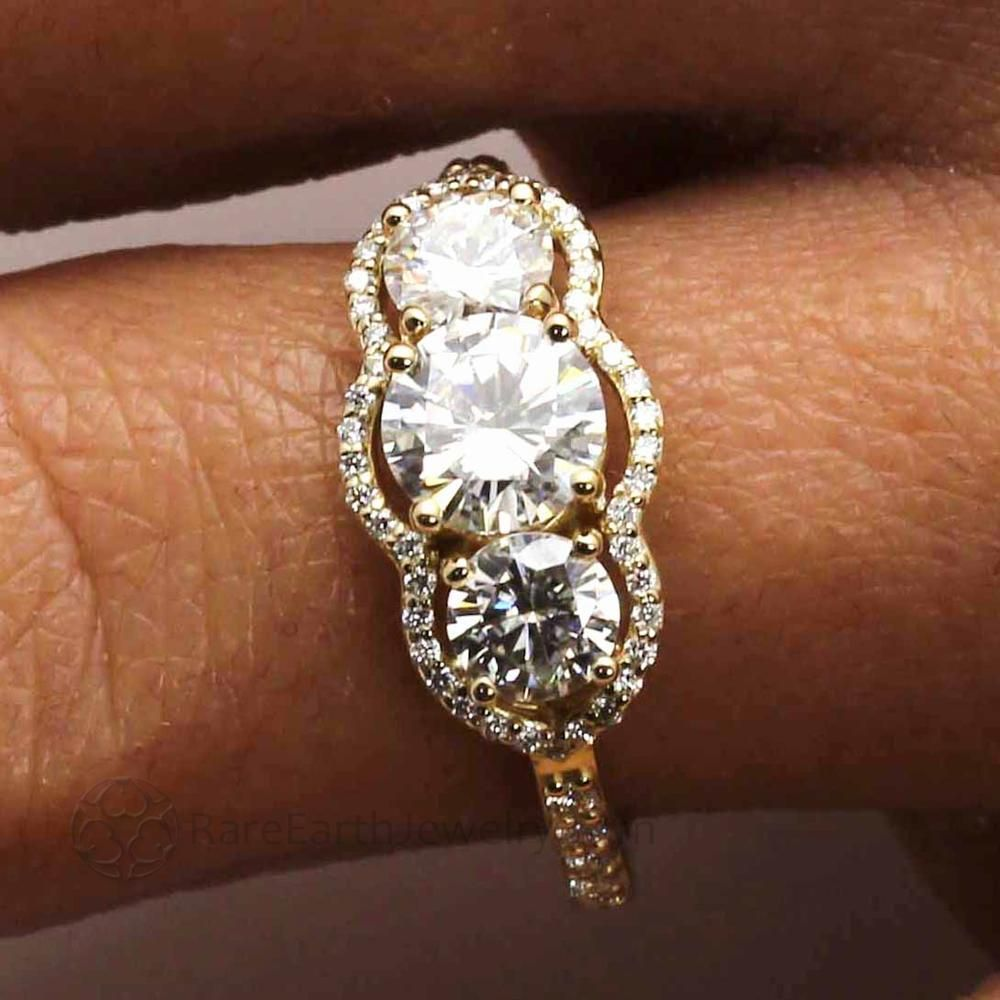 Moissanite Ring | Sculpted Vintage Style
