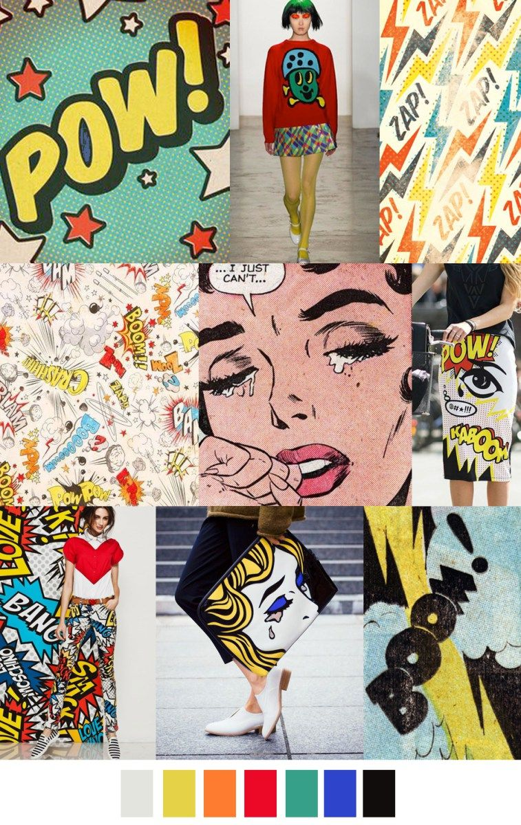 S/S 2017 colors & patterns trends: COMIC-CON | Nails ...
