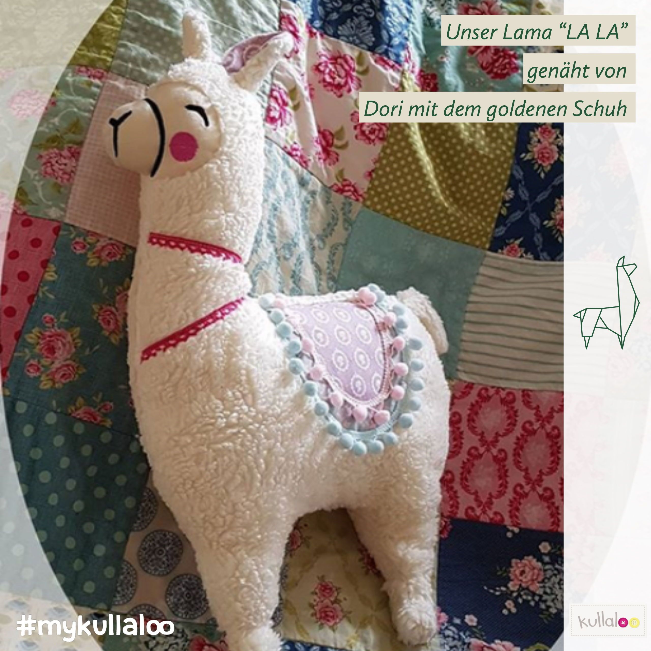 "Photo of Sewing cute llama: Sewing pattern llama ""LALA"" cushion figure 