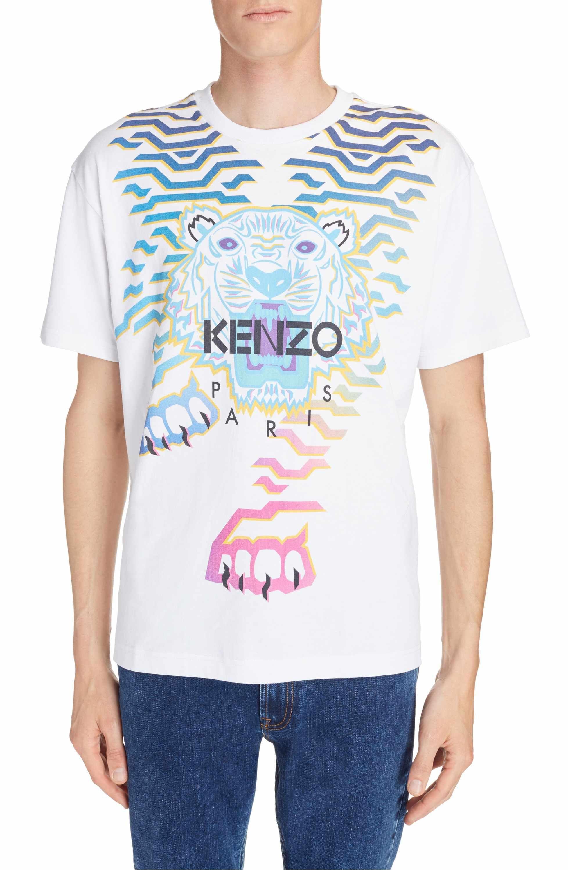 ebf5436c736 Main Image - KENZO Rainbow Geo Tiger Graphic T-Shirt
