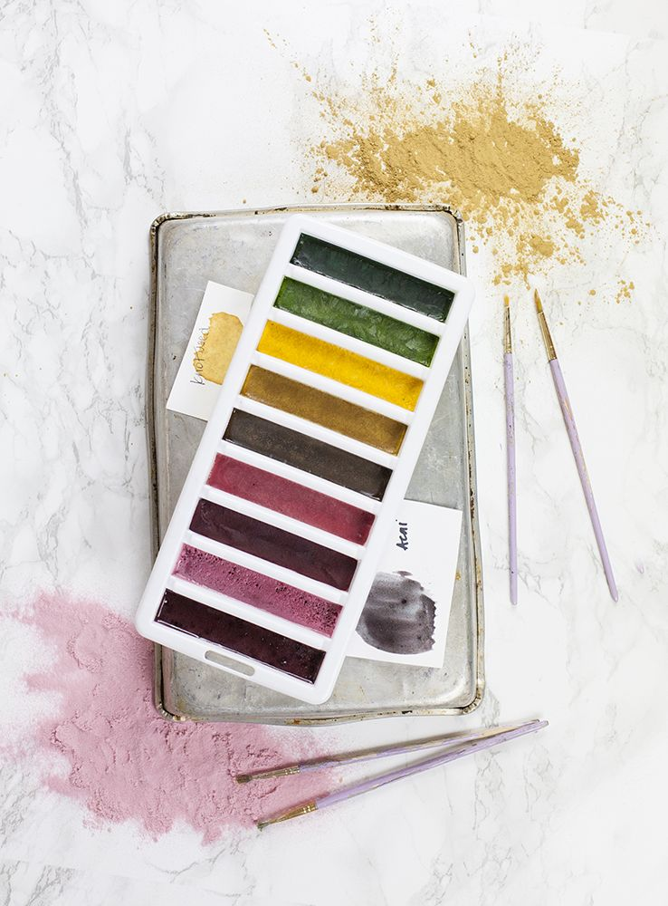 Diy Natural Watercolor Paints Watercolor Diy Painting
