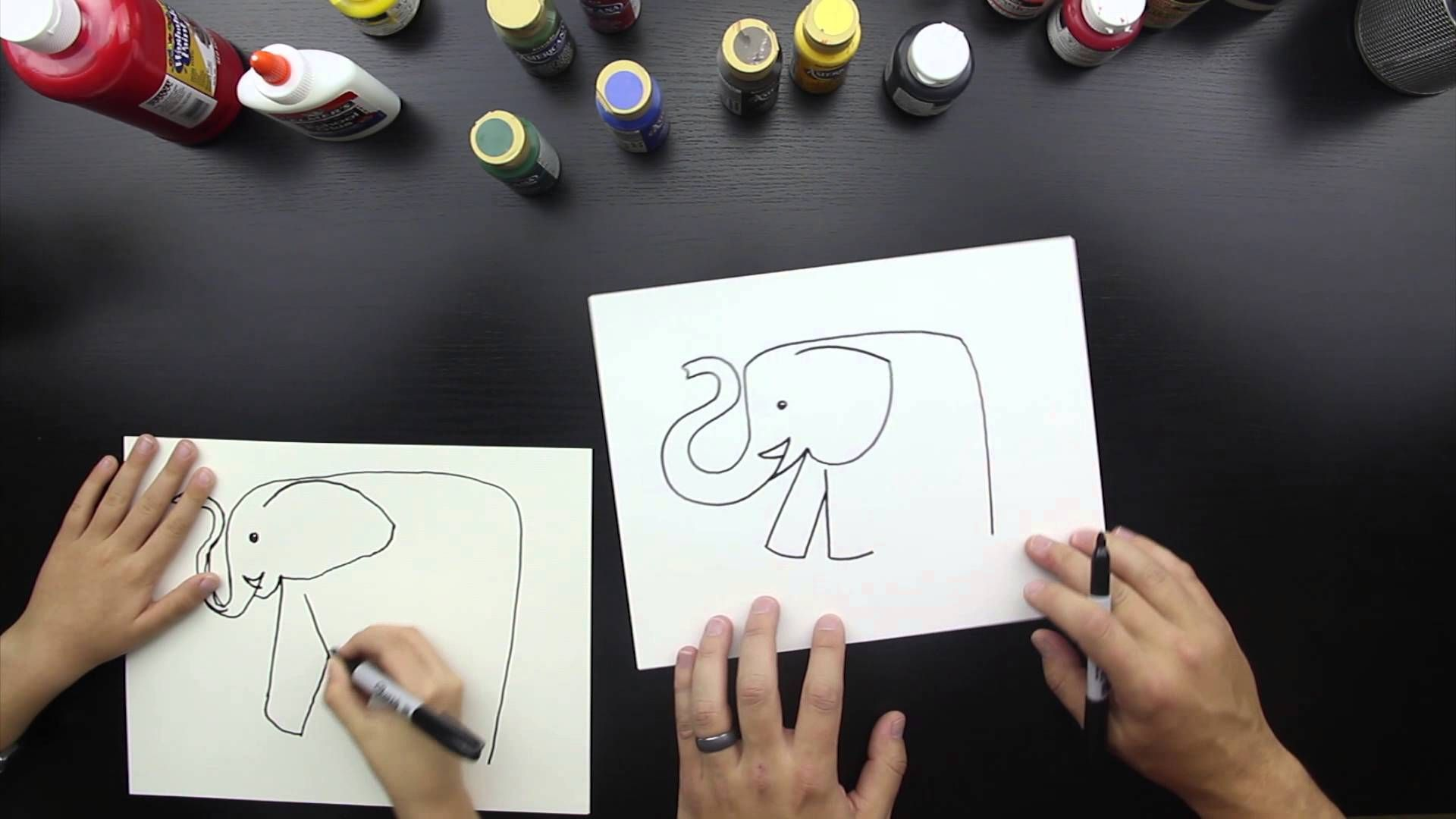 5:35 Kids Hub-How To Draw An Elephant