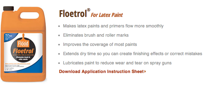 Floetrol Paint Additive To Eliminate Brush Strokes And Roller