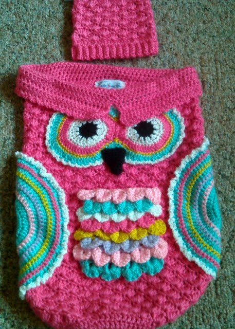 Crochet Cute Baby Owl Cocoon with Pattern | Babydecken