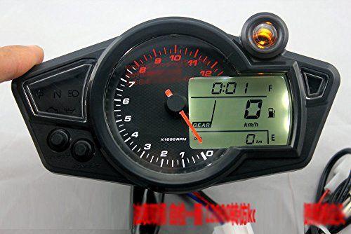 Kmh Mph Lcd Digital Odometer Speedometer 12000 Rmp Tachometer Motorcycle Motor 1 5 N Gear Indicator For Honda Yamaha Tachometer Odometer Yamaha