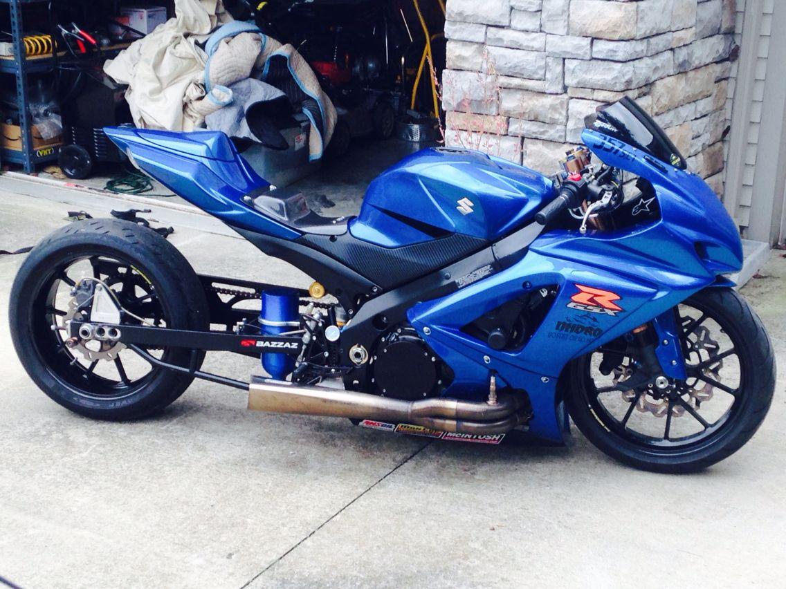 My son s gsxr 1000 drag bike