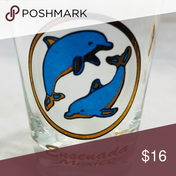 MEXICO DOLPHINS SHOT GLASS