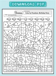 Coloring math worksheets for th grade preschool amp