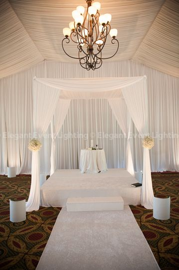 Elegant Event Lighting Chicago Can Create A Beautiful Chuppah Or Bridal Canopy For Your Wedding Ceremony