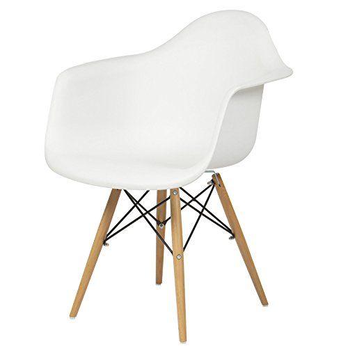 Armchair Mid Century Modern Molded Plastic Shell Arm Chair