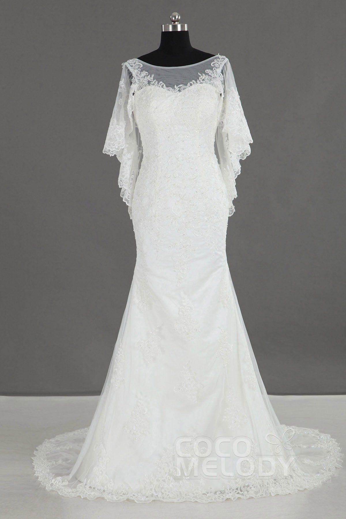 Open back wedding dresses lace  TrumpetMermaid Court Train Lace Wedding Dress LD  Trumpets