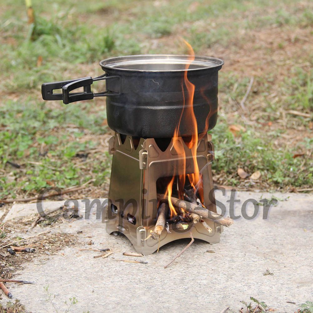 Portable camping stove for outdoor camping cooking picnic wood