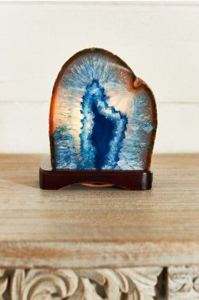 Blue Agate Lamp Earthbound Trading Co Home Gifts Crystals In