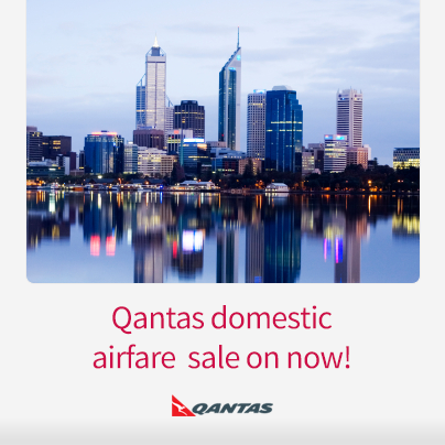 Great domestic fares available now from Qantas! Sale ends March 17 www.corporatetraveller.com.au/qantas-domestic-sale-now-0