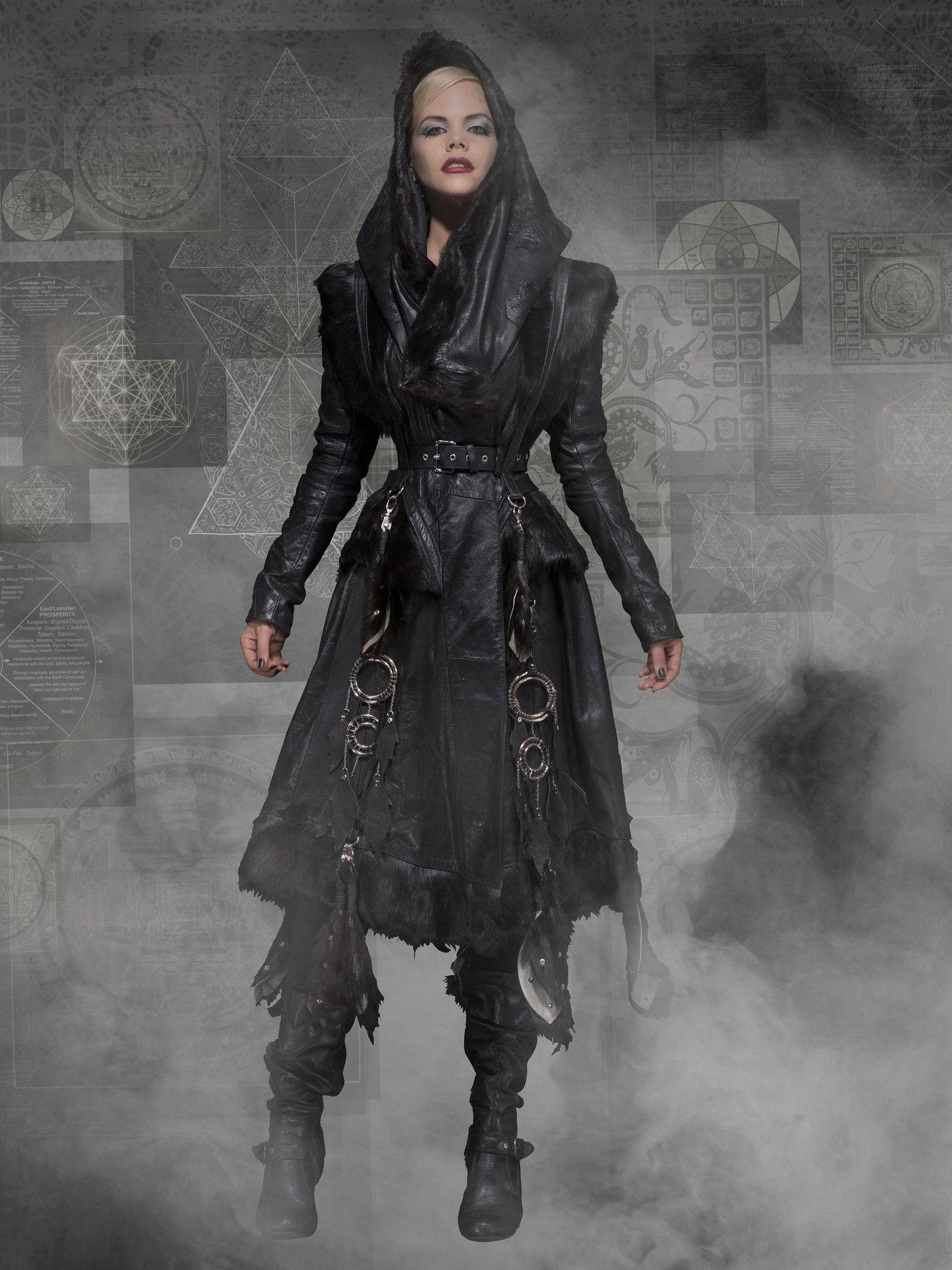 Huntress Jacket Fashion, Leather jacket with hood, Jackets