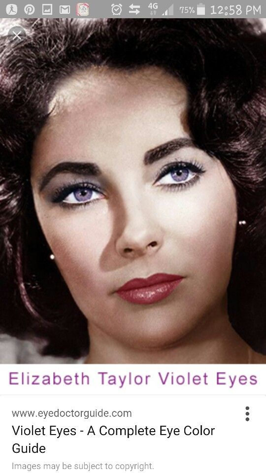 Pin By Mimi Al Enezi On Character Possibilities Violet Eyes Elizabeth Taylor Eyes Eye Color