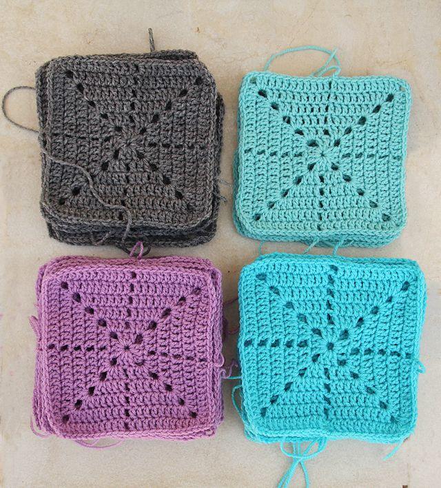 Filet Crochet simple snowflake squares | croche | Pinterest | Filete ...