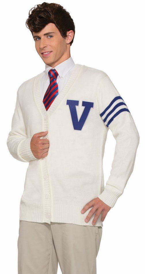 9b8eb4818f88 Adult 50's Varsity Letterman Sweater-Standard and Plus - Men's 50's Costumes