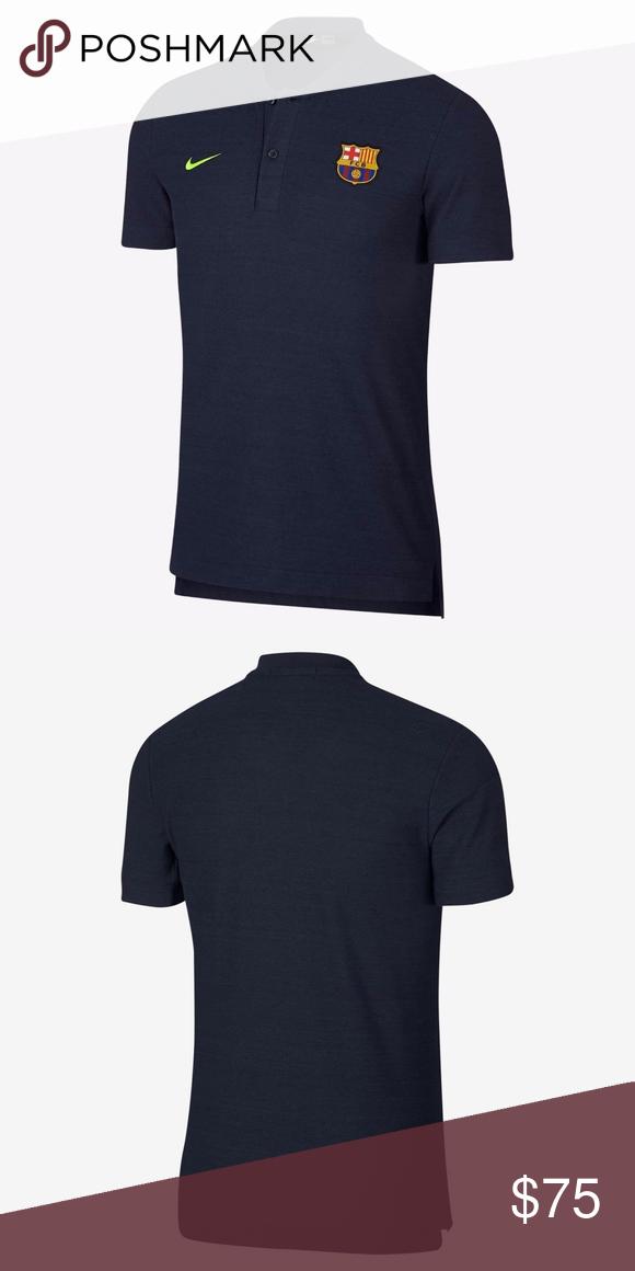 93c0e532c Nike FC Barcelona Grand Slam Polo Shirt Blue Small Brand new